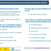 Recomendaciones de AESA antes de contratar un operador de drones