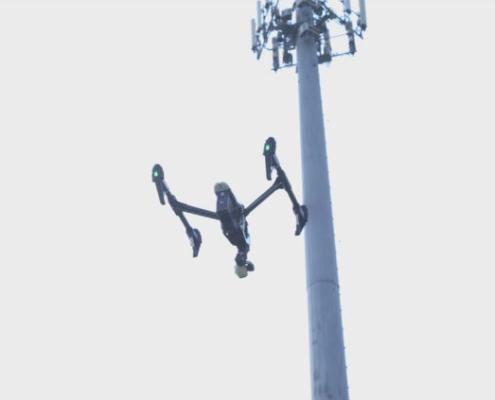 Drones en la compañía de telecomunicaciones AT&T