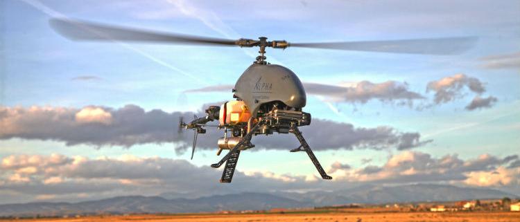 ALPHA 800: nuevo helicóptero no tripulado de Alpha Unmanned Systems