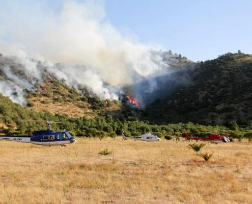 Operaciones con drones en incendios forestales
