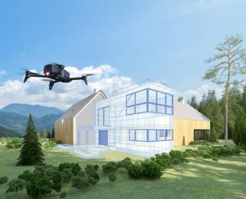 Parrot Bebop-Pro 3D Modeling revisa el estado de los edificios tras el invierno