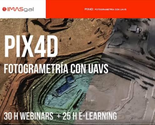 Curso online de IMASGAL 'PIX4D: Fotogrametría con RPAS'
