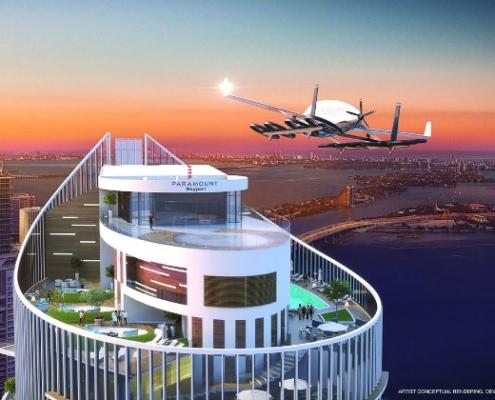 """El rascacielos Paramount Miami Worldcenter se prepara para recibir a los """"coches voladores"""""""