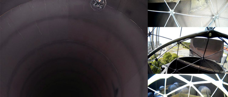 El dron Elios en la inspección de una pila de turbinas de gas