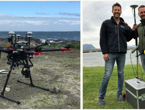 Uso de drones para la inspección y fotografía de algas marinas