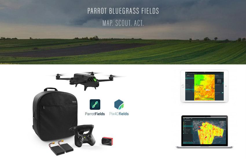 Agricultura digital con Parrot Bluegrass Fields