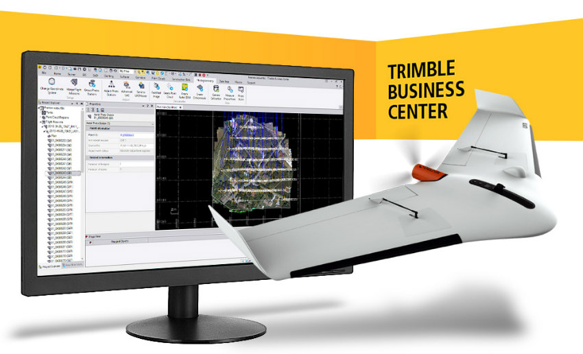 Trimble Business Center v5.0 admite datos de drones PPK de alta precisión