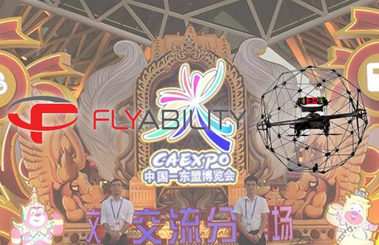 Inspección de seguridad con drones en la Exposición China-ASEAN