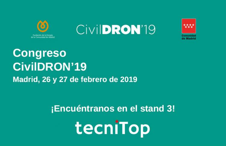Tecnitop presenta el dron de ala fija eBee X en CivilDRON'19
