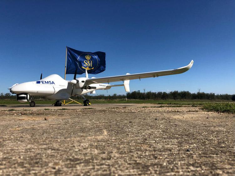 Drones de la EMSA vuelan para Salvamento Marítimo en Huelva