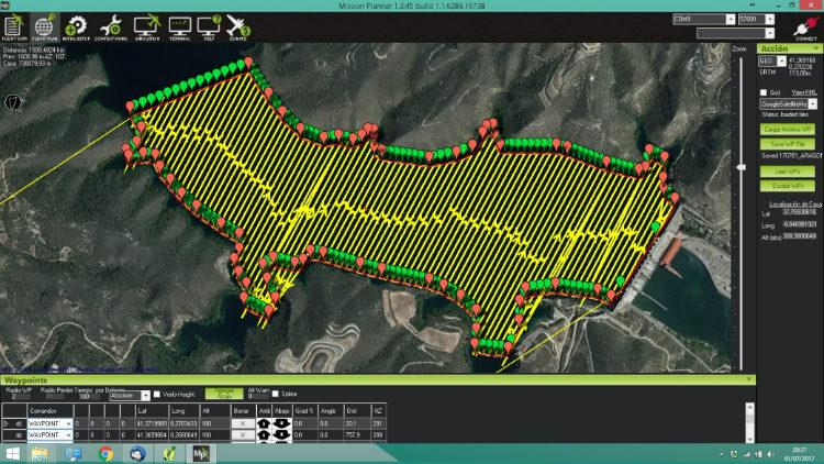 IPH realiza un producto cartográfico final integrado mediante el uso de drones