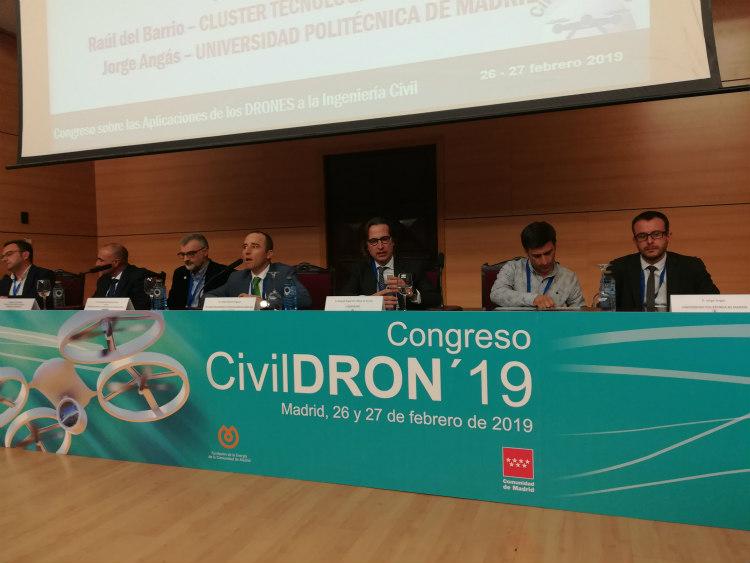 Sesión de ponencias III en CivilDron19 del 26 de febrero