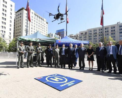 Sistema de Vigilancia Móvil con drones en Santiago de Chile