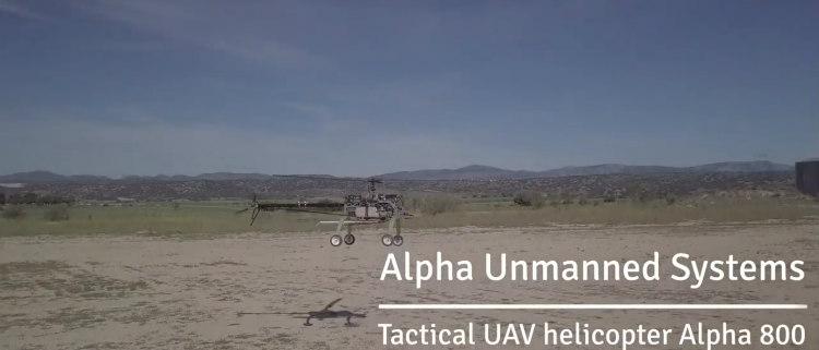 Autorrotación automática en el helicóptero UAV Alpha 800