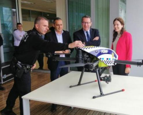 La Policía Local de Benidorm adquiere el dron de última generación Hybrix 2.0