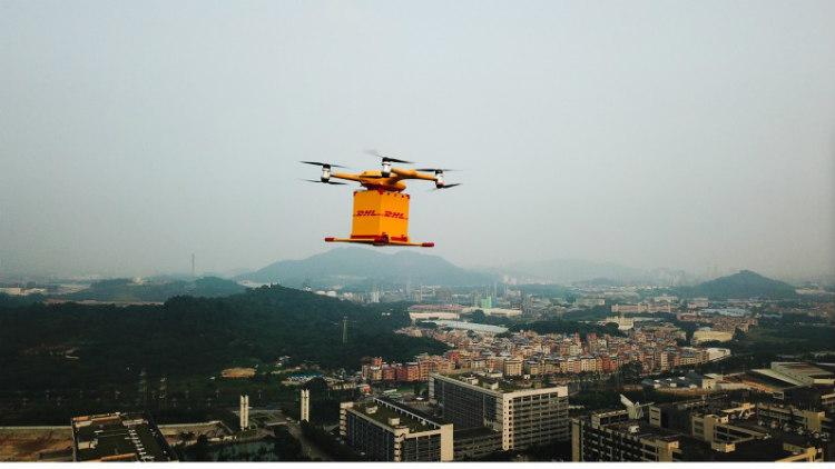 DHL Express lanza su primer servicio de entrega urbana con drones