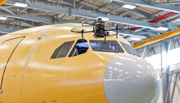Airbus y el Ejército del Aire inspeccionan aviones militares mediante drones