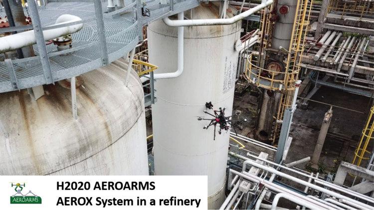 Drones para conocer con precisión el grado de corrosión de las tuberías
