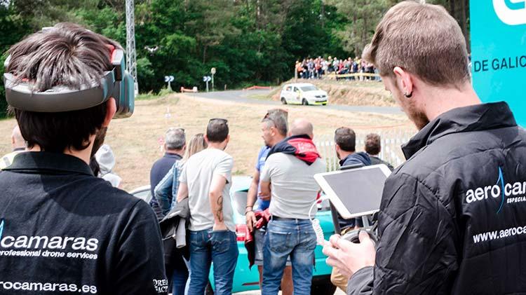 Drones españoles para garantizar la seguridad en los rallys