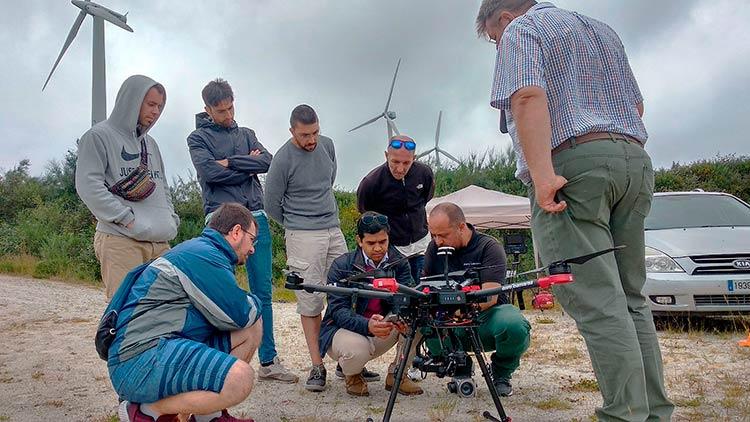 Pilotos de diferentes puntos de España se formaron en el Curso de Inspecciones Técnicas con Drones de Aerocamaras