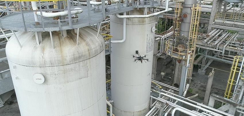 Aeronave AEROX realizó con éxito un ensayo de inspección por contacto