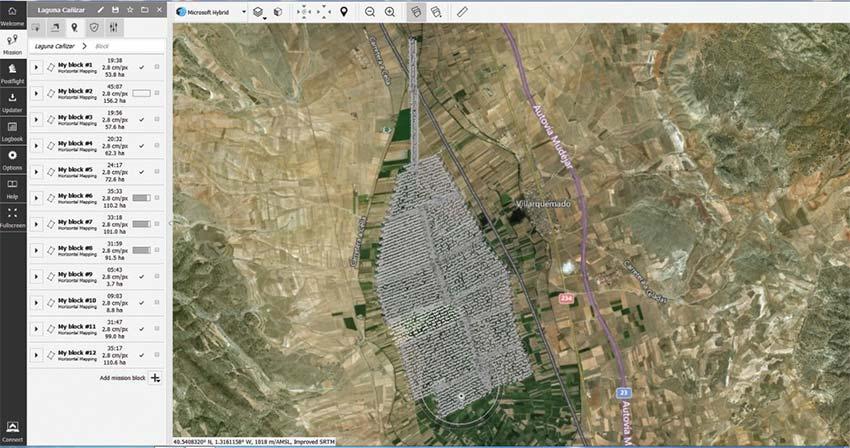 Aplicación RPAS para análisis hidrológico en La Laguna Cañizar