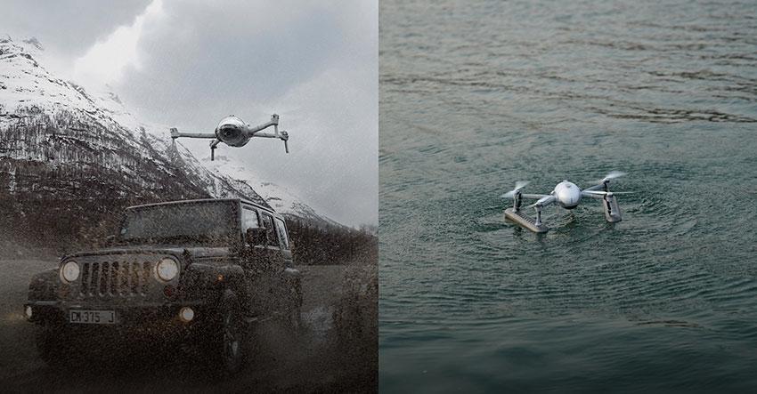 PowerVision lanza el PowerEgg X, dron aéreo todo en uno