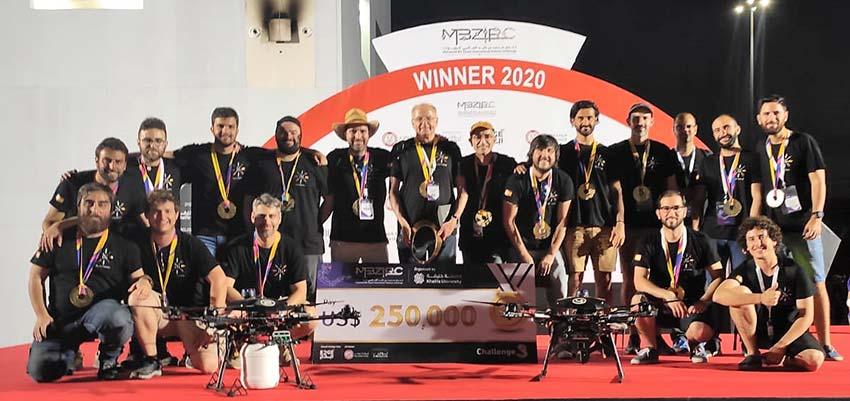 Ingenieros andaluces, Campeones del mundo de MBZIRC