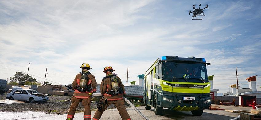 Alianza DJI y Rosenbauer, digitalización de los servicios de emergencias