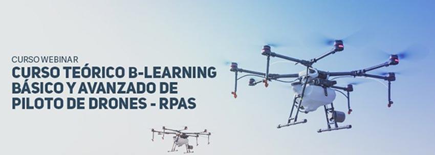 B-Learning curso básico y avanzado de pilotos de drones - junio 2020
