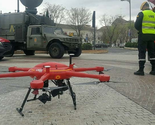 Uso de drones en la crisis del Covid-19 muy presente en UNVEX 2020