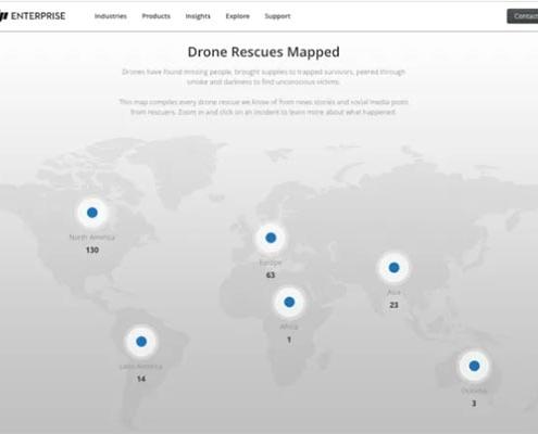 El nuevo mapa de rescates con drones de DJI