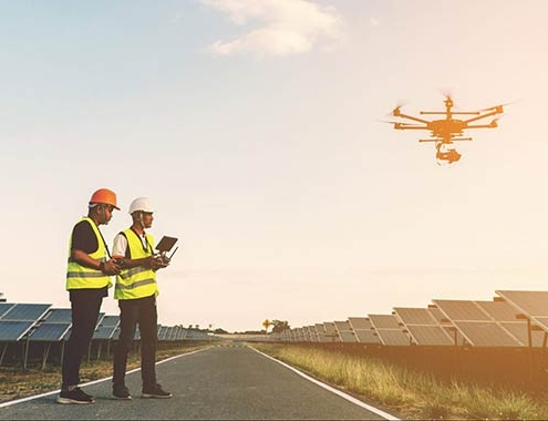 Drone4PV para el mantenimiento de centrales fotovoltaicas con drone