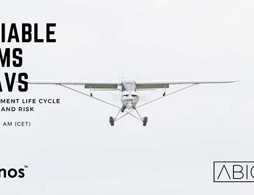 """Webinar Hionos y Abionica Solutions """"Sistemas certificables para UAVs"""""""