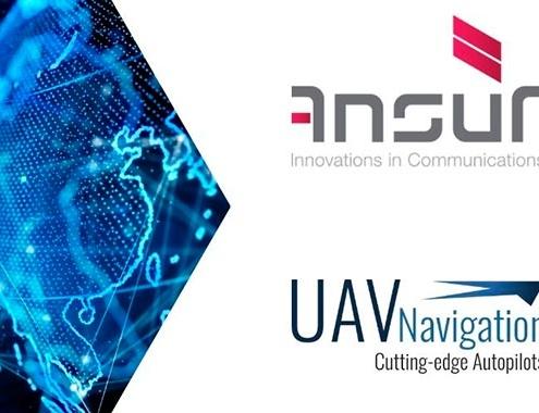 AnsuR y UAV Navigation, transmisión de video por satélite en UAV