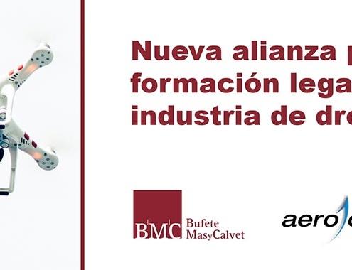 Acuerdo de colaboración de el bufete Mas y Calvet y Aerocámaras