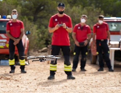 """""""Drones bomberos"""" para rescates verticales e inspecciones de riesgo"""