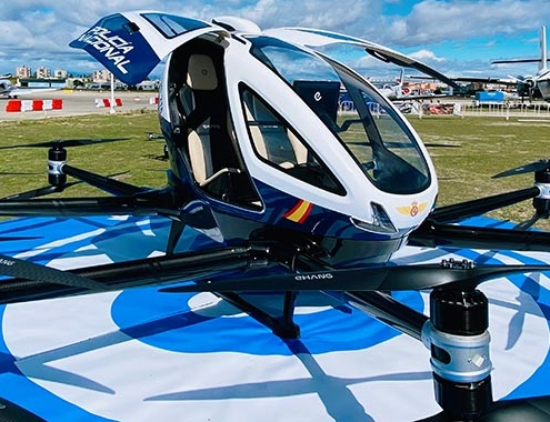 La Policía Nacional adquiere el primer dron para pasajeros, Ehang 216